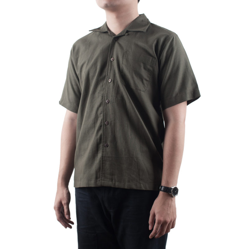 Weekend Shirt – Olive Linen (2)