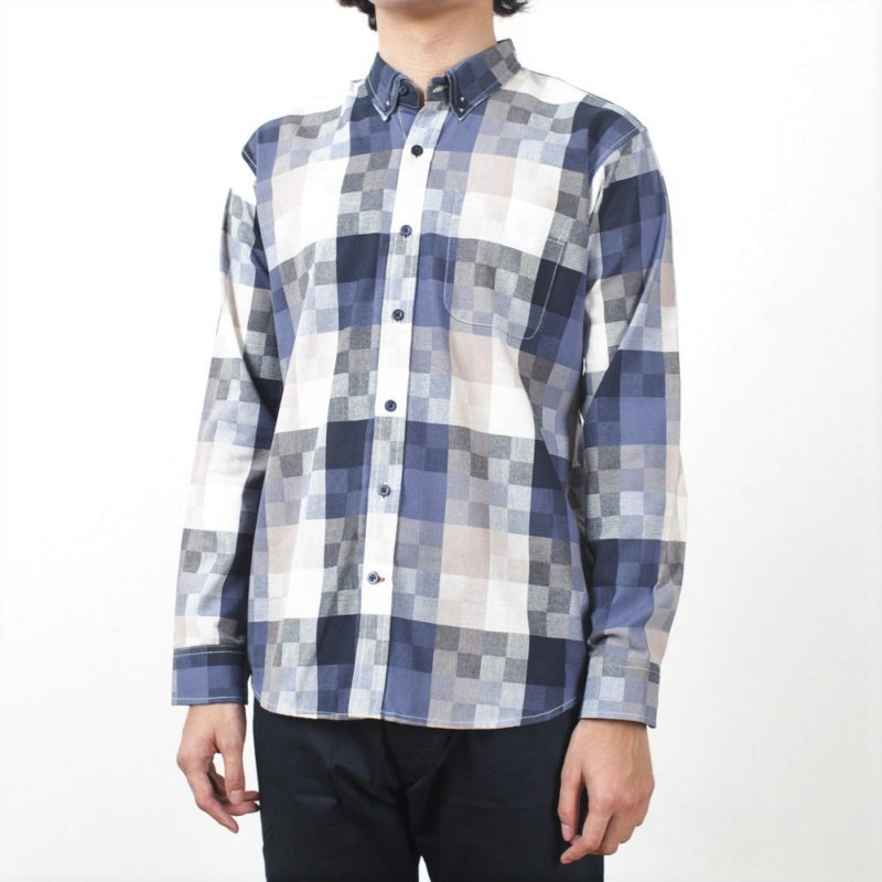 Button Down LS – Crazy Square Oxford